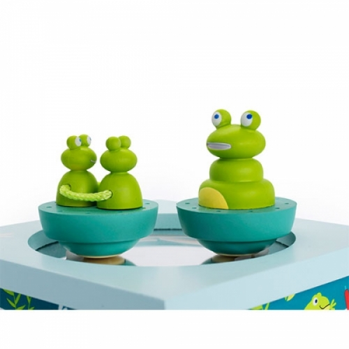 Boîte musique dancing grenouille