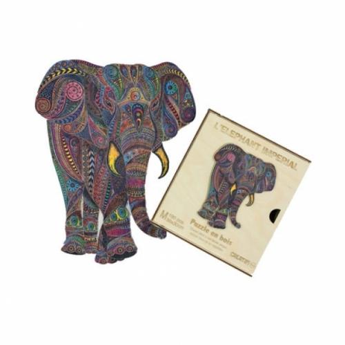 Puzzle bois éléphant