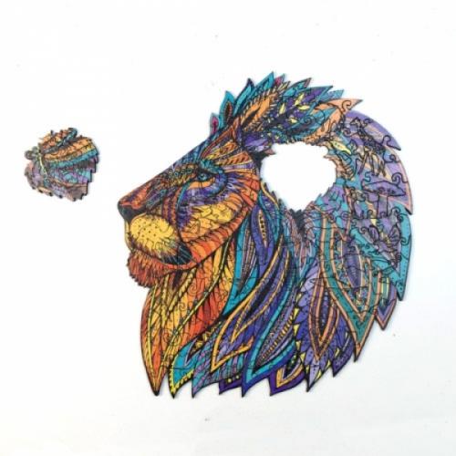 Puzzle bois lion