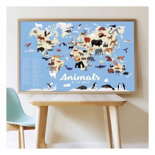Poster animaux du monde