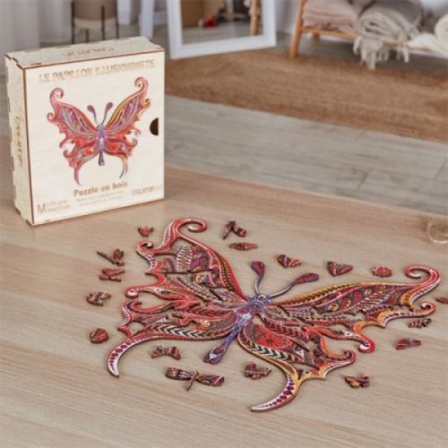 Puzzle bois papillon