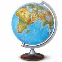 Globe terrestre socle bois.