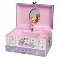 Boîte à bijoux princesse mauve