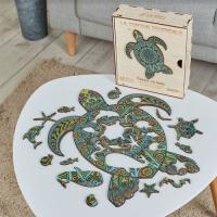 Puzzle bois tortue